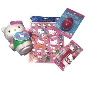 Hello Kitty Gift pack bbl bath,soap,stickers, pez